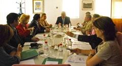 Reunión de Gómez Periñán y Ayala con los presidentes de las Federaciones.