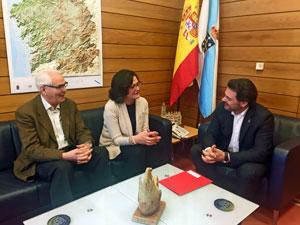 Rodríguez Miranda, derecha, y Maribel García.