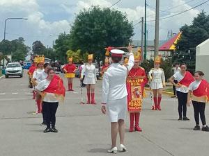 Durante el desfile.