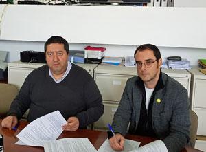 El presidente de FAER, Mario Alonso, y Rafael Jurado.