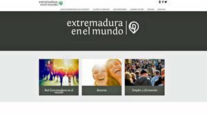 Imagen de la plataforma web Extremadura en el Mundo.