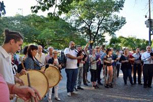 No faltó el sonido de la música tradicional gallega.