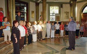 Actuación del coro del Centro Gallego de Buenos Aires.