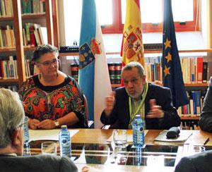Milagros Otero y Francisco M. Fernández Marugán.