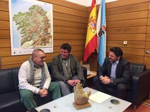 Domingo Balboa, Carlos Mandianes y Antonio Rodríguez Miranda.