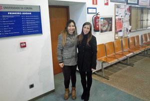 Diana Benítez Carballeira y Ana Carolina Hauradou Carreiro.