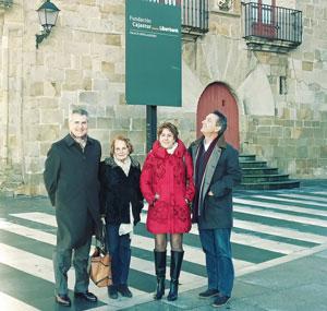 Carlos Siñeriz, Paz Fernández Felgueroso, Begoña Serrano y Manuel de Barros.