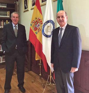 Ramón Moreno en el Casino Español.