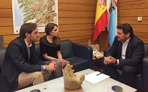 Jesús Pazos, Carmen Cruz y Antonio Rodríguez Miranda.