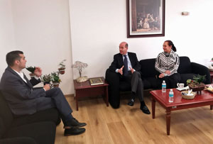 Jorge Triana, Ramón Moreno y Alejandra Vilalta.