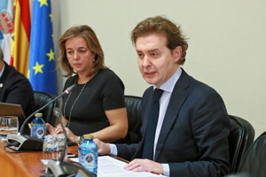 Comparecencia de Jesús Gamallo en el Parlamento gallego el viernes 26 de enero.