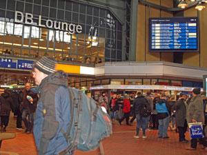 Vista de la estación de tren de Hamburgo.
