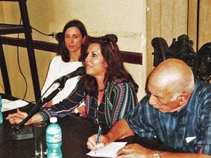 Ana Sánchez, Marta de Blas y Pedro González.