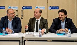 Miguel Tellado, Ramón Moreno y Antonio Rodríguez Miranda.