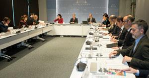 Un momento de la reunión del Consejo  Asesor de Colectividades Vascas.