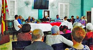 José López Botello presidió la primera Asamblea General de Asociados del año del Club Villarino de La Habana.
