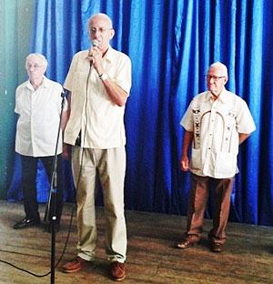 El presidente Ángel Dagas pronunció las palabras centrales del acto.