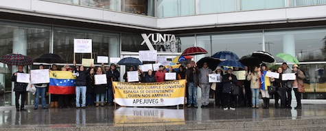 Imagen de la protesta en Vigo del pasado 13 de febrero ante la Delegación de la Xunta.