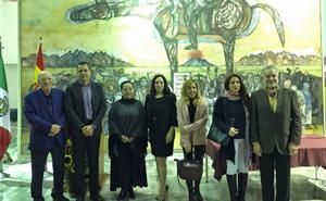 Algunos de los participantes en el homenaje.