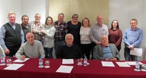 Responsables de las entidades gallegas en Madrid.