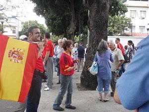 Los manifestantes comenzaron a congregarse desde las 10 de la mañana del sábado 29 de mayo.