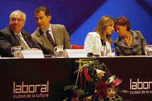 Los Príncipes con Álvarez Areces y Elena Espinosa.