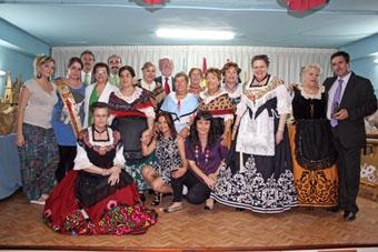 Maza con las mujeres en el Centro.