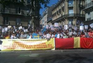 Una vista de la manifestación celebrada en París.