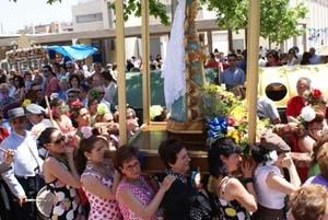 Procesión de la Virgen.
