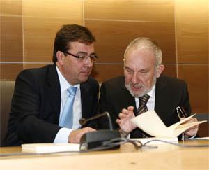 El presidente Vara y Florentino Rodríguez.