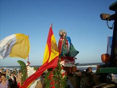 La imagen de Santiago Apóstol recorrerá la playa gesellina por segundo año consecutivo.
