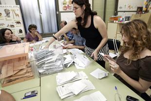 Recuento de voto en Valencia en 2007.