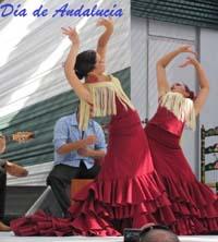 Cartel del Día de Andalucía del Centro Andaluz del Perú.