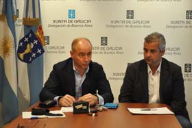 Santiago Camba y el delegado de la Xunta en Buenos Aires, Alejandro López Dobarro.