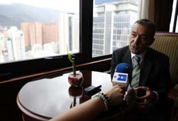 Paulino Rivero mantuvo un encuentro con la prensa en un céntrico hotel de Caracas.
