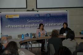 Intervención de Pilar Pin en el Seminario 'Presencia española en el exterior'.