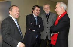 Mañueco junto a Jordi Folgado, Álvaro Marchesi y Félix Colsa.