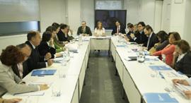 Reunión del comité de campaña del PP en la que participó Alfredo Prada.