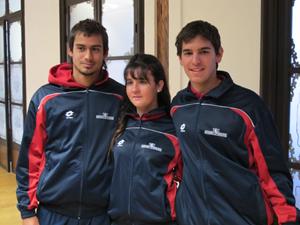 Nabor García, Ángela García y Santiago Urzúa.
