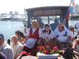 Procesión marítima el día de la Virgen de la Candelaria.