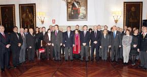 Alberto Núñez Feijóo con el cuerpo consular acreditado en Galicia.