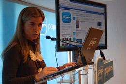 Victoria Cristóbal presentó el perfil de Facebook.