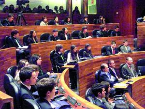 Un momento de la sesión en la Junta General.