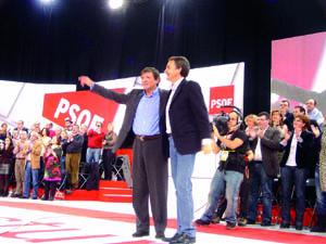 Javier Fernández y José Luis Rodríguez Zapatero.