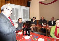 Arsenio Pacheco en la Asociación Murciana de Villerbaunne.
