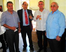 Rafael Garbajosa, Pablo Barrios, José Luis Martín-Yagüe y Antonio Fidalgo.