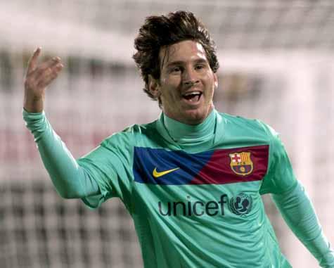 Messi marcó el primer gol del Barça ante el Mallorca.