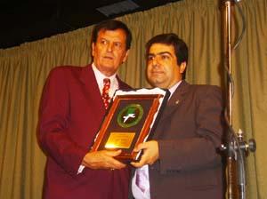 Pousa Arias y Zamora en la entrega del Premio Al-Andalus.