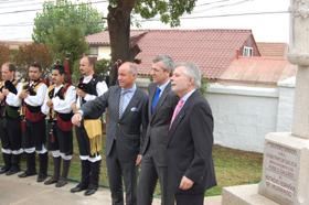 Inauguración del cruceiro en el Estadio Español de Valparaíso.