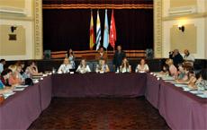 Coloquio de la mujer en el Centro Gallego de Montevideo.